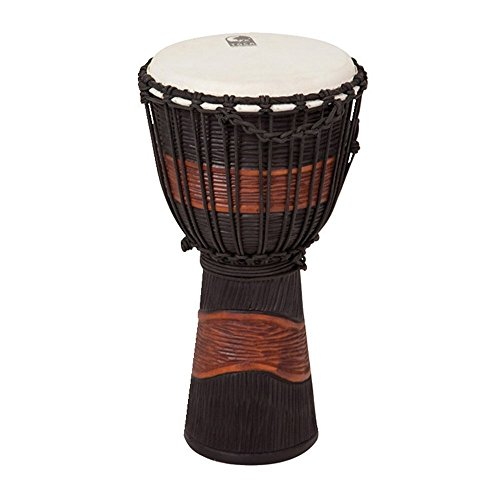 "Toca 10"" Street Series Carved Djembe, Brown/Black"