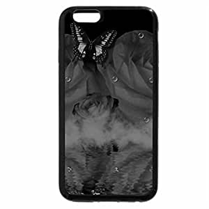 iPhone 6S Case, iPhone 6 Case (Black & White) - Red Rose Wonder