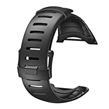 Welcomeuni FASHION Rubber Watch Replacement Band Strap For SUUNTO CORE SS014993000 (BK)