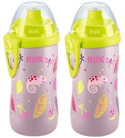 ab 36 Monaten auslaufsicher rosa NUK 10255340 First Choice Junior Cup 300 ml mit Push-Pull-T/ülle mit Clip 2 Flaschen 2er Pack BPA frei