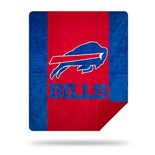 Officially Licensed NFL Buffalo Bills Denali Silver Knit Throw Blanket, Royal Blue, 60