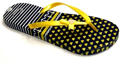 5 38 Dorado Caucho dema para Mujer Amarillo Sandalias de 1Awqn0w8