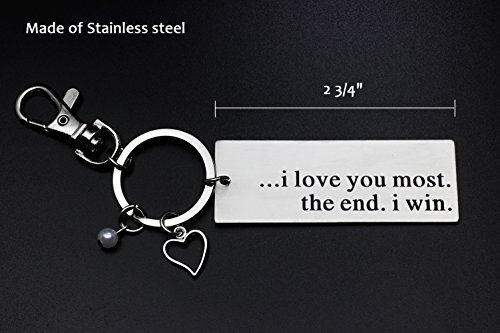 Ms.Clover I Love You Most The End I Win Keychain, Anniversary Gift for Husband Couples Best Friends, Grandparent Mom Child Gift, Wedding Gift by Ms.Clover (Image #2)