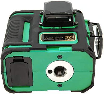 EU-Azul Herramienta de nivelaci/ón de l/ínea cruzada de luz verde de 12 l/íneas de nivel l/áser 100V-240V con cable de alimentaci/ón para industrias de construcci/ón y gabinetes