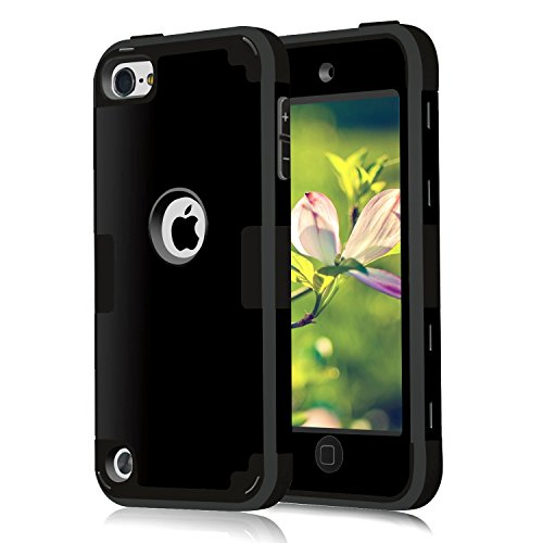 (Case for iPod Touch Cases 7 for iPod Touch 7th 6th 5th Generation Case for iPod Touch 6th Generation Case, CheerShare 3 in 1 Hard PC Case + Silicone Shockproof)