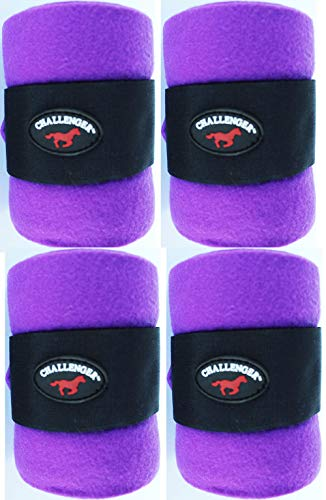 - CHALLENGER Horse Tack Grooming Leg Protection Polo Wrap Set of 4 Soft Fleece Purple 95R05