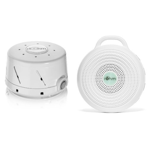 Marpac All-Natural White Noise Sound Machine Home and Away Bundle , White by Marpac