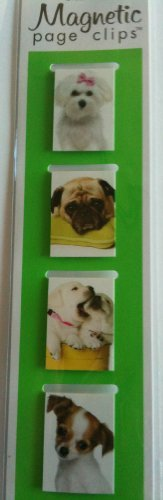 (Puppies Mini Photo Magnetic Page Clips Set of 4 By Re-marks)