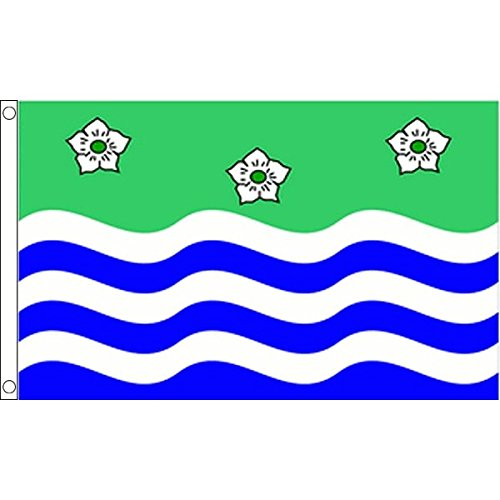 Cumberland Large Flag 5 x 3 FT 100/% Polyester With Eyelets English County