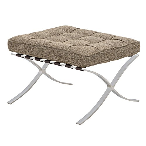 LeisureMod Melba Modern Lounge Tufted Buttoned (Barcelona Storage Ottoman)