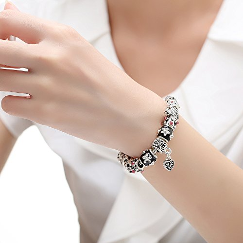 Presentski Fashion Jewelry European 925 Sterling Silver Plated Frog Charm Bracelet for Women Men Girls