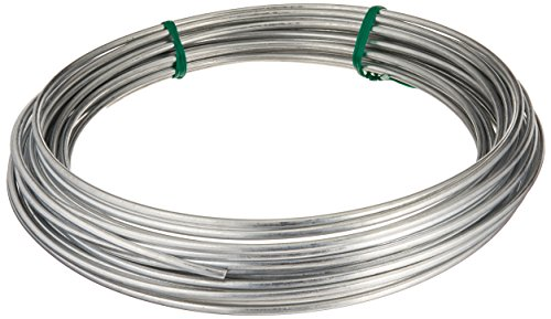 Hillman 122062 Galvanized Solid Utility Wire, 9 Gauge, 50 Foot Coil Wire 50' Coil