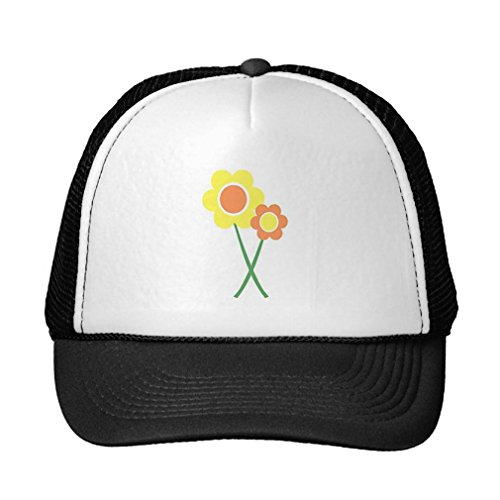 Julyou Yellow Daisy Flowers Trucker Hat Baseball Mesh Cap,One Size