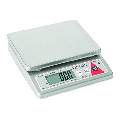 Control Digital Scale - Taylor Precision TE10CSW 10-Pound Water Resistant Digital Portion Control Scale, Dry & Liquid, Stainless Steel, NSF