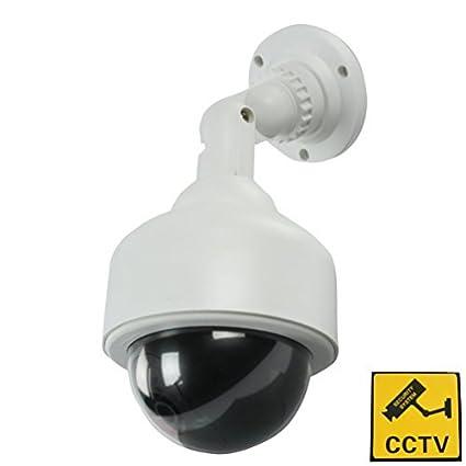 BestOfferBuy Cámara CCTV Domo PTZ de Seguridad y Vigilancia Ficticia con Luz LED Parpadeante