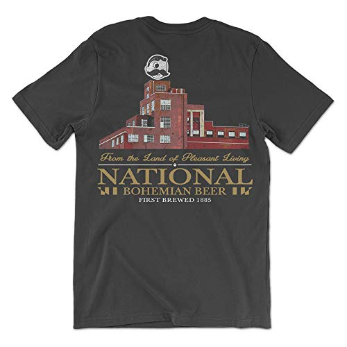 Route One Apparel | Officially Licensed National Bohemian Beer Brewer's Hill Shirt (Black, Large)