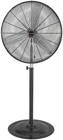 XtremepowerUS Pro-Series 30 inch High Velocity Telescoping Standing Shop Fan Adjustable Height Fan 3-Speed Control CFM 7600 Black