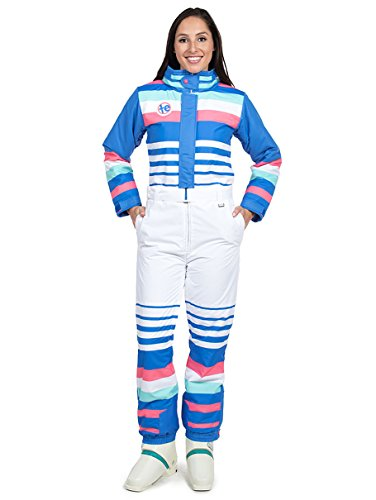 Tipsy Elves Women's ICY U Ski Suit: Small White -