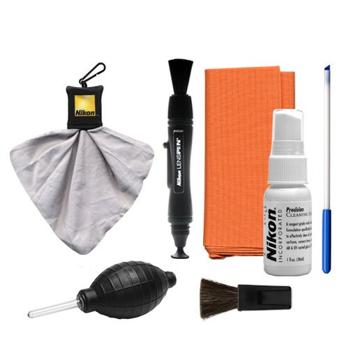 Nikon Cleaning Combo Kit: Nikon Optics Maintenance Kit + Spudz Microfiber Cloth + Lens Pen + Air Blower for Digital SLR Cameras, Lenses, Binoculars & Scopes For Sale
