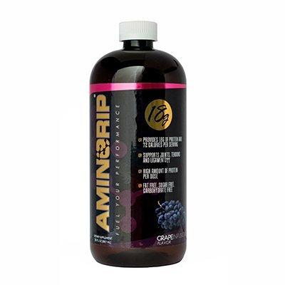 Aminorip-18 Liquid Pure Protein Grape 30 Fl Oz (Predigested Acids Amino)