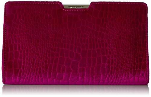 MILLY Embossed Croco Velvet Small Frame Clutch Croco Embossed Clutch