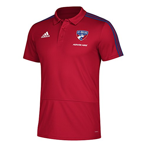 - adidas Men Sideline Coaches Polo, Power Red, X-Large