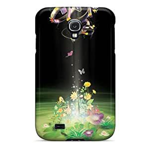 Durable Protector Case Cover With Flowers Up Hot Design For Galaxy S4