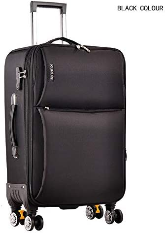 Color : Black, Size : 24 Oxford cloth suitcase luggage universal wheel female 20 inch 22 inch 24 inch male password boarding soft tow box