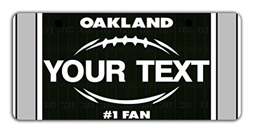 Oakland Raider Costume (BleuReign(TM) Personalized Custom Name Football Oakland Bicycle Bike Moped Golf Cart 3