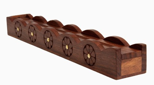 (storeindya Incense Burner Plate Holders Tower Sticks Holder/Incense Burner Stick/Cool Incense Burners/Unique Incense Burners/Stick Incense Burners/Wooden Incense Burner with Storage Compartment)