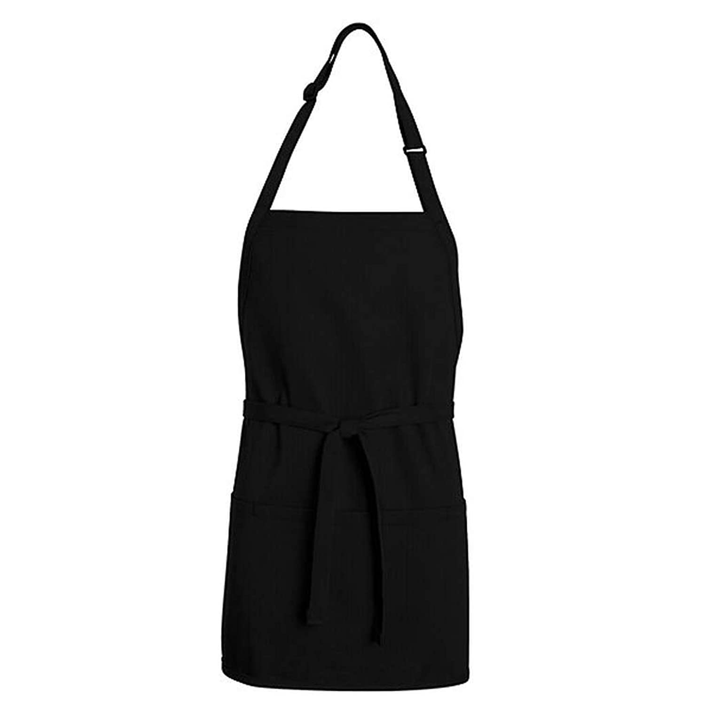Black apron - Amazon Com Chef Designs Tt32 Short Premium Bib Apron Black One Size Work Utility Aprons Clothing