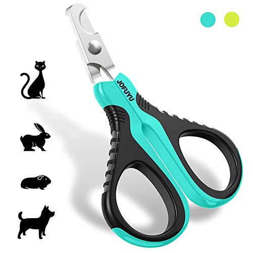 JOFUYU Cat Nail Clippers - Professional Cat Nail Trimmer - Safe, Sharp Angled Blade Pet Nail Trimmer and Clippers - Non-Slip Handle Cat Nail Scissors - Cat Claw Clippers for Small Dogs and Cats