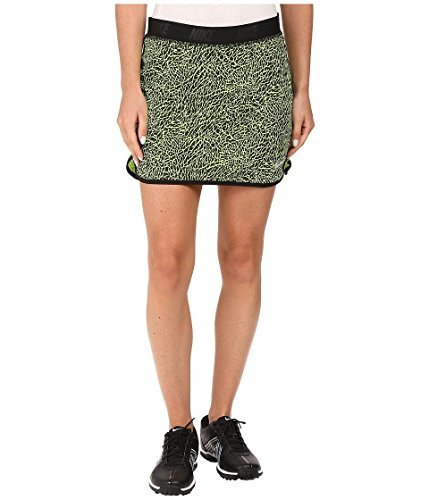 Nike Flip Print Golf Skort 2016 Womens Volt/Black/Metallic Silver Medium