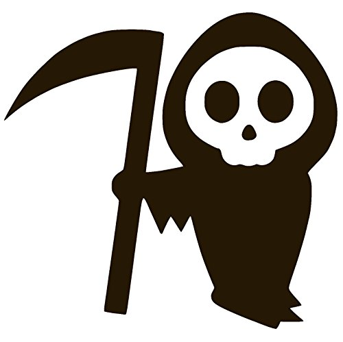 CARTOON GRIM REAPER HALLOWEEN SCARY DEATH Vinyl Decal Stickers (2