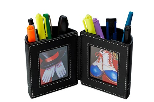 Pen and Pencil Holder with Picture Frame By Pensali – Space Saver Desk Organizer for Office Supplies – Made of Premium…