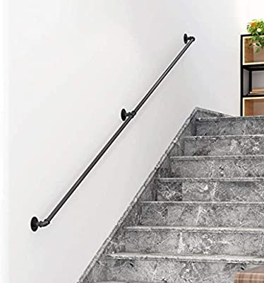 Pasamanos Escalera Barandilla de escalera 1ft-20ft, Barra de soporte de barandas, Discapacitados Old Man Children Kit de barra de agarre de escalera interior al aire libre para Loft / Villa / Baño: