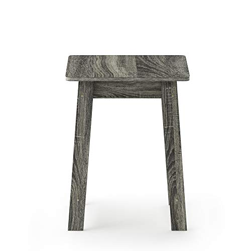 Furinno 18039GYW Beginning end Table, French Oak Grey (20 Under Table End Small)
