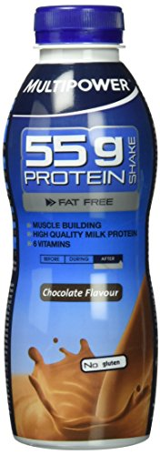 Multipower 55g Protein Shake, Chocolate (12 x 500 ml)