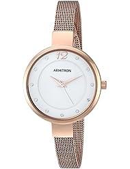 Armitron Womens 75/5465WTRG Swarovski Crystal Accented Rose Gold-Tone Mesh Bracelet Watch