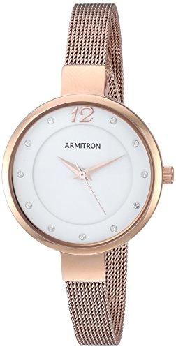 Armitron Women's 75/5465WTRG Swarovski Crystal Accented Rose Gold-Tone Mesh Bracelet Watch
