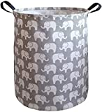 KUNRO Large Sized Storage Basket Waterproof Coating Organizer Bin Laundry Hamper for Nursery Clothes Toys