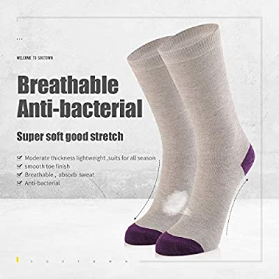 SOX TOWN 6 Pairs Women's Crew Athletic Socks, Super Soft Durable Casual Socks