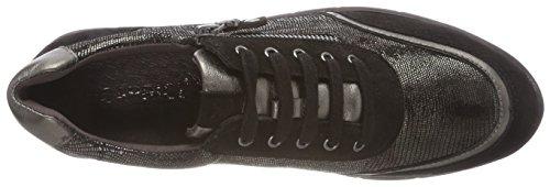 Gunmetalmet Zapatos com Caprice Cordones para de Derby Mujer 925 23601 Gris TxwqFRg4