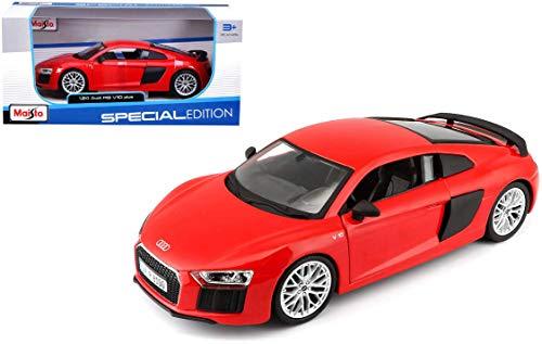 [해외]Maisto 1:24 스케일 아우디 R8 V10 플러스 색상은 다를 수 있습니다 / Maisto 1:24 Scale Audi R8 V10 Plus, Colors May Vary