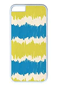 iPhone 6 Case, Personalized Unique Design Covers for iPhone 6 PC White Case - Blue Yellow Paper