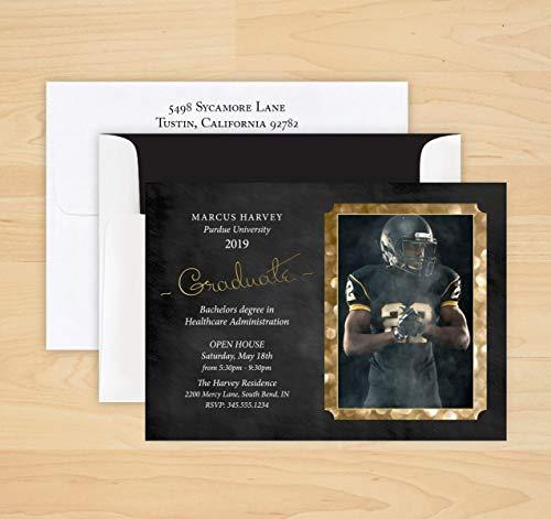 All That Glitters Frame Graduation Invitation - Set of -