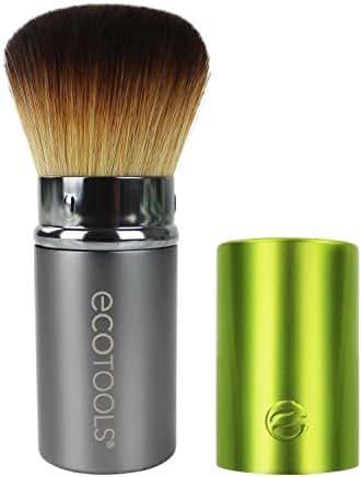 EcoTools Retractable Kabuki Travel Foundation Brush for Blush Bronzer & Powder (Color may vary)