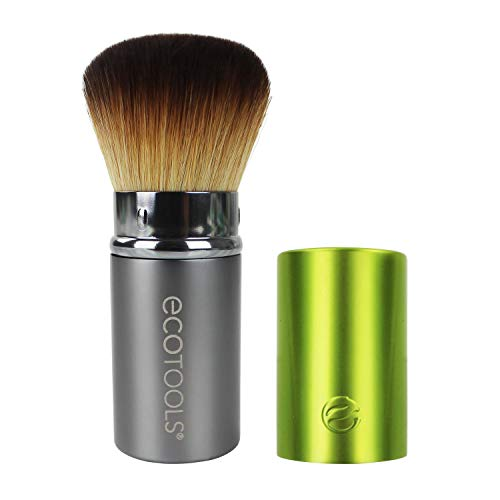 EcoTools Retractable Kabuki Travel Foundation Brush for Blush Bronzer & Powder (Color may vary) (The Best Cheap Makeup Brushes)