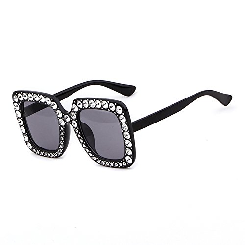Crystal Rim Women Sunglasses Retro Brand Desginer Square Oversize Sun - Best Sunglasses 2017 Shaped Face Heart For