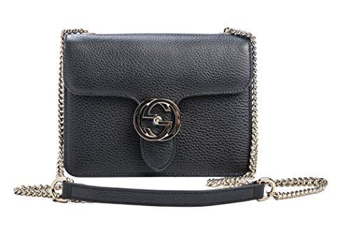 d5e9c4866ad88b Gucci Women's Small Black GG Guccissima Leather Emily - Import It All